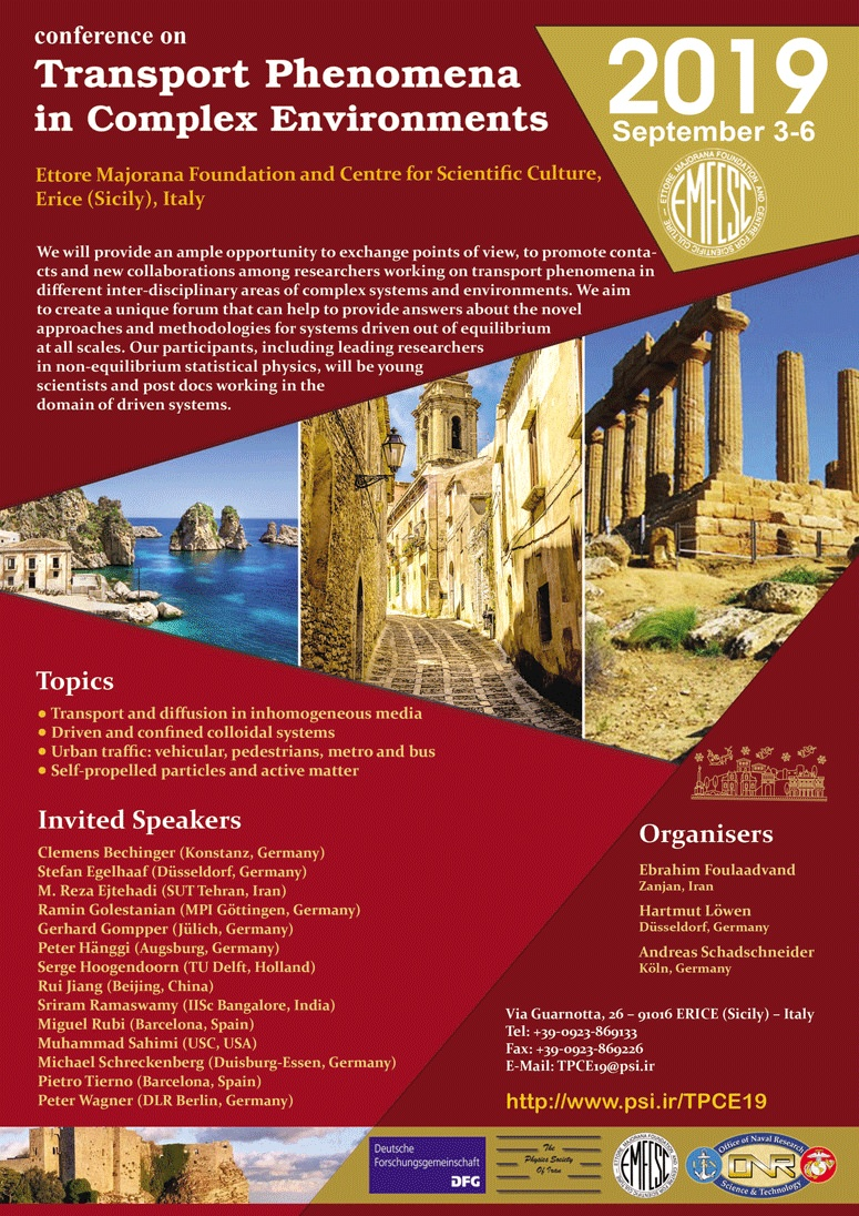Conference on Transport Phenomena in Complex Environments